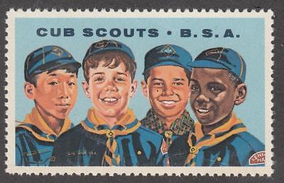 US Cub Scouts Boy Scouts Cinderella Poster Stamp
