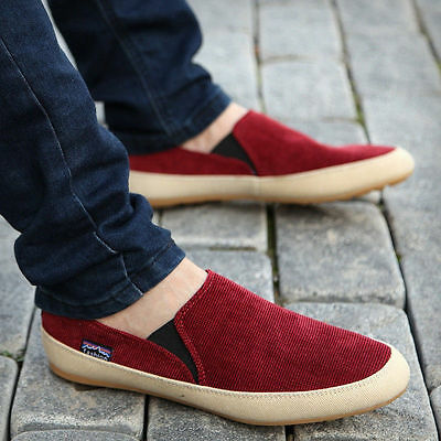 Fashion Britsh Men's Casual Running Freely Canvas Sneakers Slip On Loafer Shoes