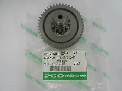 OEM PGO Scooter G-Max 125 T-Rex 125 Gearbox Idle Gear Comp. (43T) C11412000003