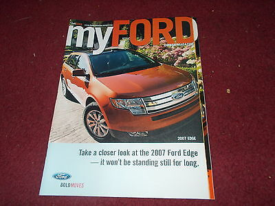 2007 Ford Edge Model Introduction Myford Magazine Sales Brochure Nice Type A
