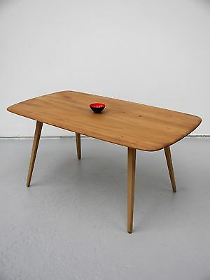 1971 Vintage Original Ercol Dining Plank Table In Elm Great Mid Century Piece