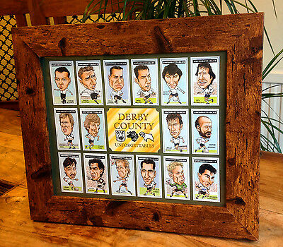 Derby County FC Cigarette Card style Framed Print Unforgettables - The Rams
