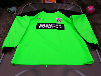 Coleraine Goalkeeper Players Matchworn Shirt 2000 Xl Mens Number 19
