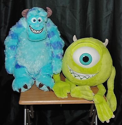 Disney Monsters Inc Set Of 2 Large Soft / Plush Toys Mikey & Sully