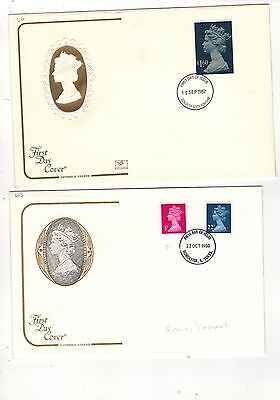 GB. 1969-93  TWELVE definitive .FIRST DAY COVERS .SEE PICTURES