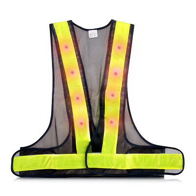 kwmobile LED Reflective Vest - safety vest traffic outdoors jogging bike night