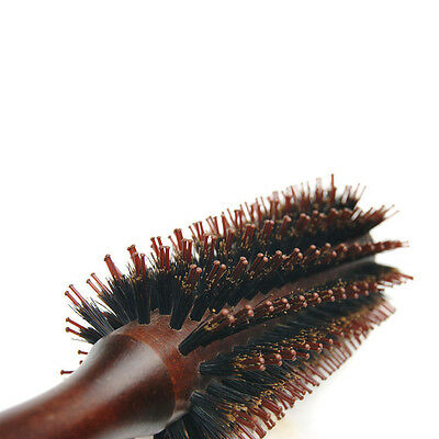 Round Wooden Hair Brush Smoother Fuller Hair - By TRIXES