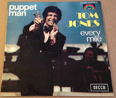 TOM JONES - PUPPET MAN - French DECCA P/S - Mod Club fave - HEAR