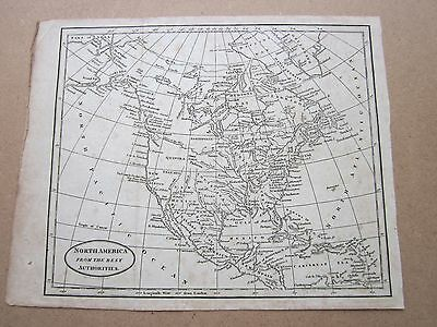 RARE ANTIQUE MAP c.1800 - NORTH AMERICA FROM THE BEST AUTHORITIES - B BAKER