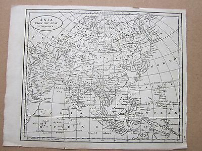 RARE ANTIQUE MAP c.1800 - ASIA FROM THE BEST AUTHORITIES - B BAKER ISLINGTON