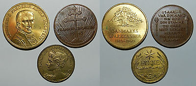 Denmark : 3 X Old Medals