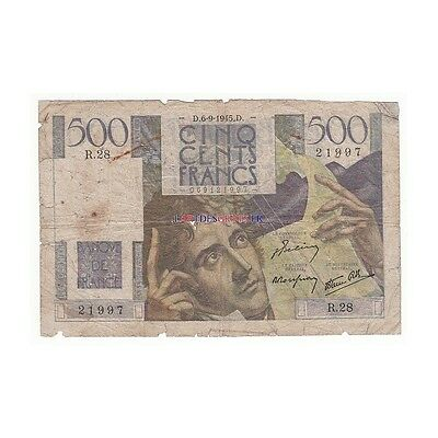 500 Francs CHATEAUBRIAND 06-09-1945 Fayette 34.2 [500F204 FR]