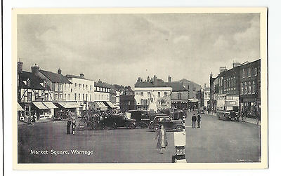Oxfordshire Wantage Market Square Real Photo Vintage Postcard 10.01