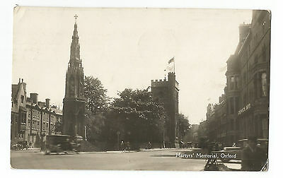 Oxfordshire Oxford Martyn's Memorial Real Photo Vintage Postcard 11.01