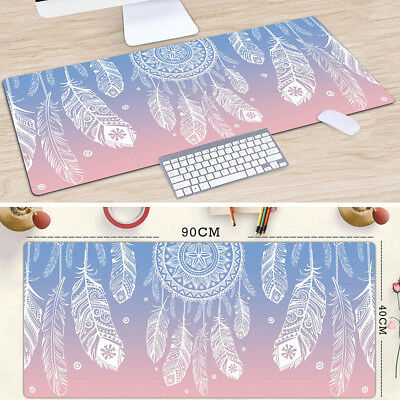 Extra Large Anti-slip Desktop Mouse Pad / Big Wide Size 90x40cm / Feather