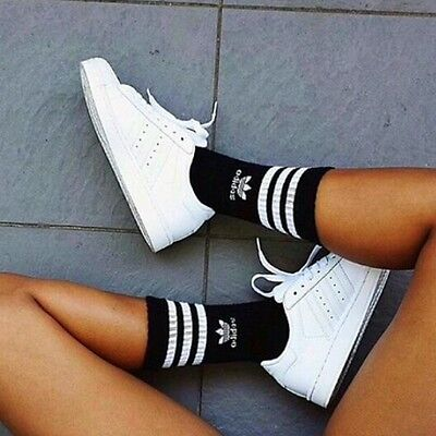 LOT 3 PAIR Pack adidas CREW SOCKS  3Youth - 9(men-women) extended size