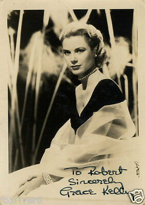 GRACE KELLY Signed Photograph - Film Star Actress & Monaco Royalty