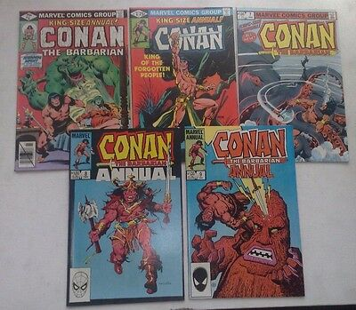 Job Lot Of 5 Conan Annuals #5,6,7,8 & 9 Marvel Comics 1979-84 All In Fine Cond