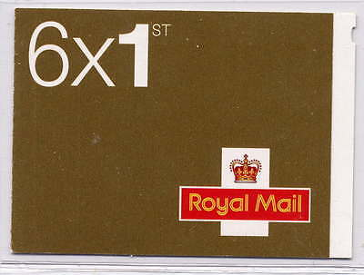 GB 2011 6 x 1st CLASS SELF ADHESIVE STAMPS CYLINDER W5 BOOKLET MB8e