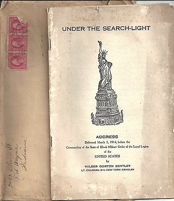 1914 UNDER THE SEARCH-LIGHT ADDRESS BKLT by W.G. BENTLEY of 9th NEW YORK CALVARY