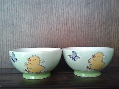 2 Whittard of Chelsea 10cm Bowls. Nick Butterworth. Easter