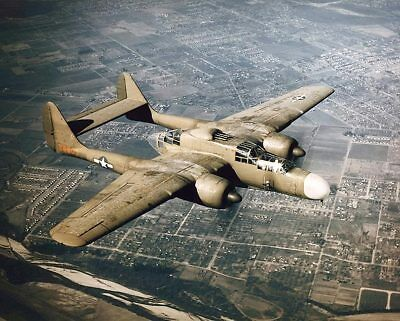 P-61 Black Widow in Flight US Air Force 11x14 Silver Halide Photo Print