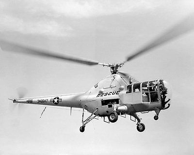 Sikorsky H-5 Dragonfly Helicopter in Flight 11x14 Silver Halide Photo Print