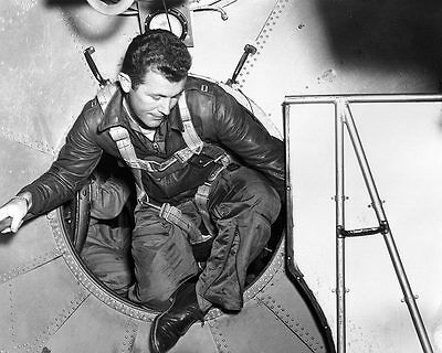Chuck Yeager in B-29 Entering the Bell X-1 11x14 Silver Halide Photo Print