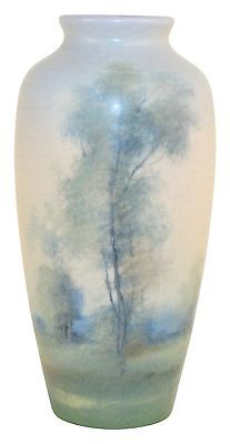 Rookwood Pottery 1921 Vellum Scenic Vase 614F (Diers)