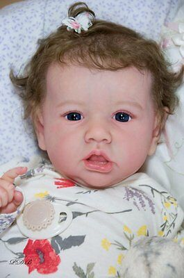 "Reborn Doll Baby Girl ""Saskia"" by Bonnie Brown 23"" LIfelike sculpt Glass Eyes"