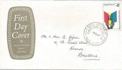AUSTRALIA FDC-1967 50th ANNIVERSARY  OF BRITISH & FOREIGN BIBLE SOCIETY
