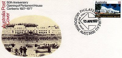 AUSTRALIA FDC-1977 50th ANNIVERSARY OPENING OF PARLIAMENT HOUSE