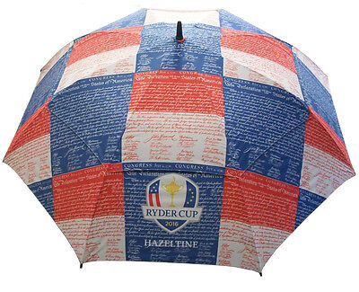 """NEW Ryder Cup 2016 62"""" Loudmouth Golf Umbrella Declaration of Independence"""