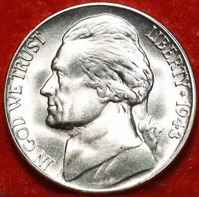 Uncirculated 1943-S San Francisco Mint Silver Jefferson Nickel Free Shipping