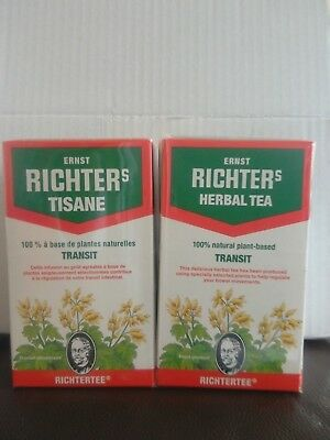 THé TISANE MINCEUR RICHTER (ou RICHTERS) LOT DE 2 BTES