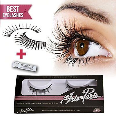 Professional False Eyelashes with Glue Set Great for Contact Lens Wearer by Iris