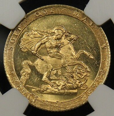 1817 Great Britain MS-64 NGC Full Gold Sovereign. Tied finest graded. Amazing!