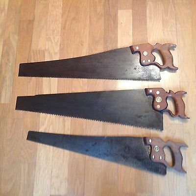 3 Vintage Saws - Disston USA, Warranted Superior And Spear And Jackson