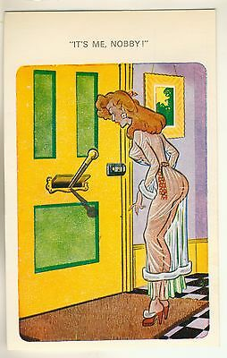 """A Saucy Comic Postcard of """"It's Me, Nobby!"""""""