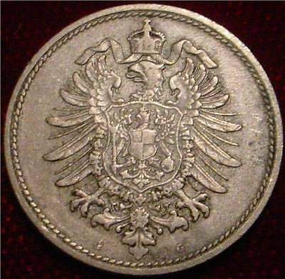 """Empire Of Germany Hi Grade Xf 1876 """"g"""" 10 Pfennig**nice Detailed Coin**"""