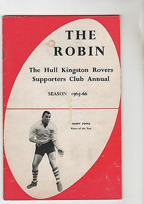 Hull Kr Supporters Club Annual 1965/6
