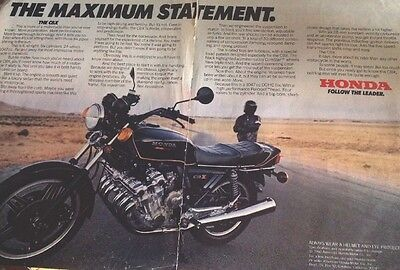 11x16 Inch Ad Of 1980 Honda CBX 1047cc  6 CylinderMotorcycle