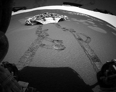 NASA Opportunity Rover Driving Away From Lander 11x14 Silver Halide Photo Print