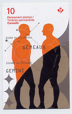CANADA 2011 SIGNS of the ZODIAC GEMINI BOOKLET SCOTT BK456