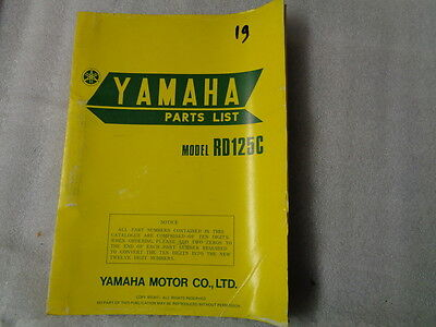 Yamaha Rd125C Parts List  507-28198-61  19
