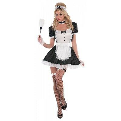 French Maid Costume Adult Halloween Fancy Dress