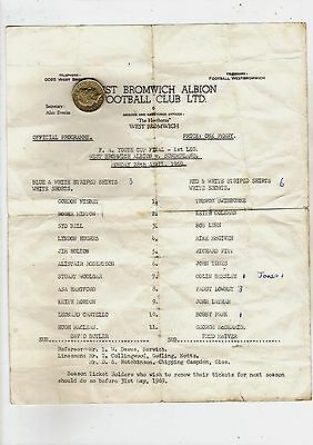 ORIGINAL F.A. Youth Cup Final 1969 S/S West Bromwich Albion W.B.A. v Sunderland