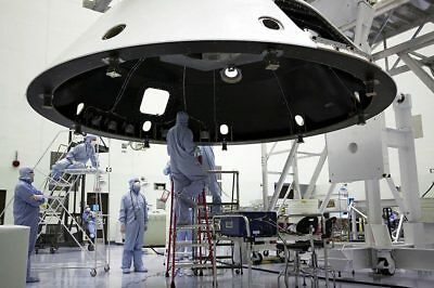 Technicians With Backshell for Mars Science Lab 12x18 Silver Halide Photo Print