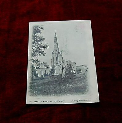 """ST MARY""""s CHURCH HINCKLEY POSTED TO HYDE CHESHIRE 1900s"""
