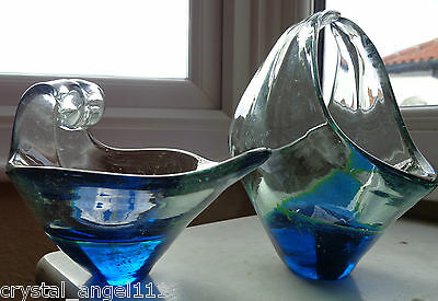 Two  Vintage  Mdina  Glass  Vases   / Bowls